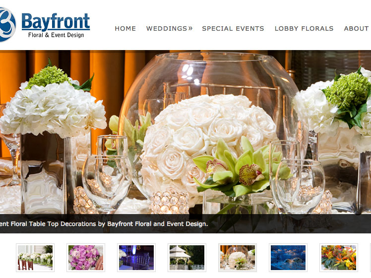 Wedding Florals Website