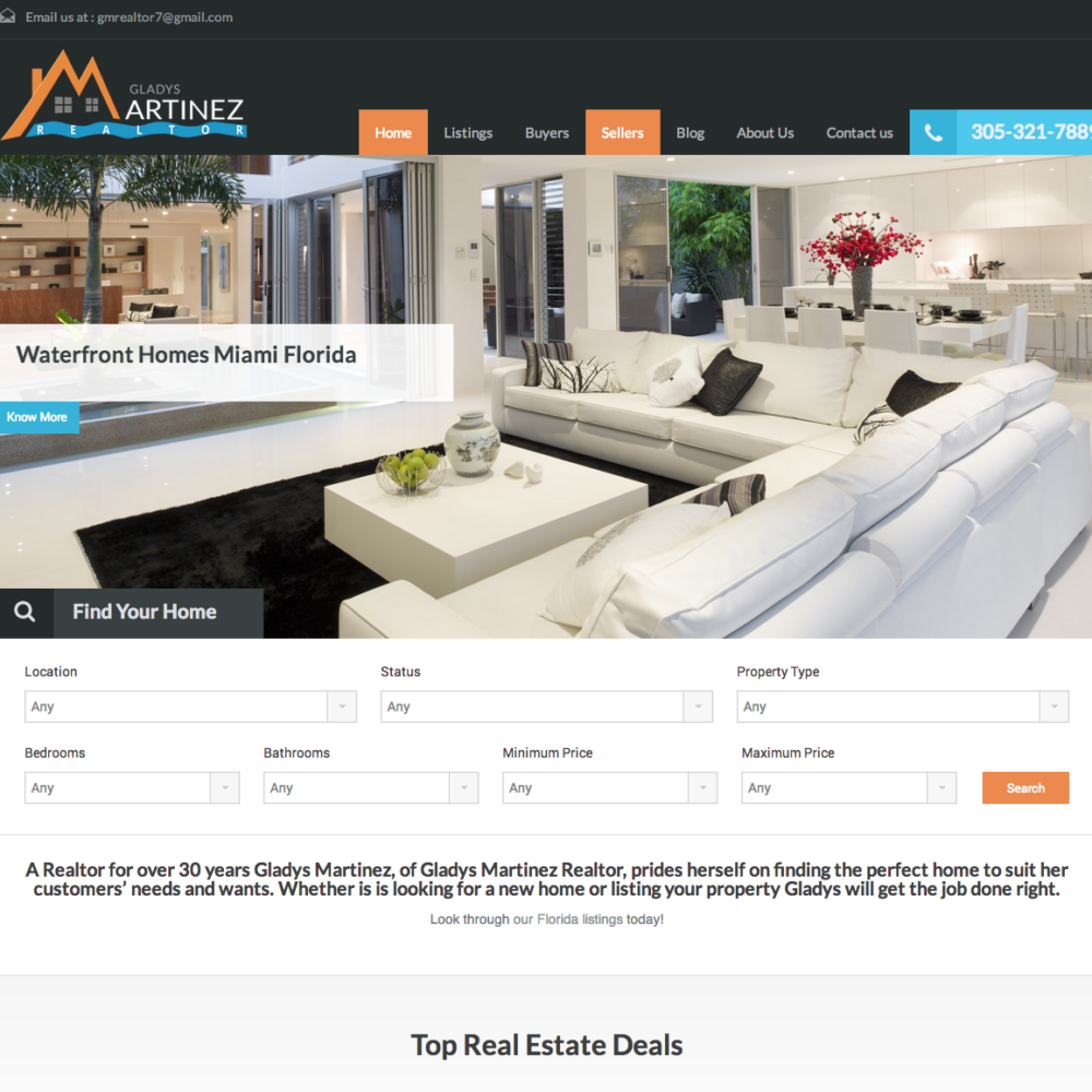 Real Estate Site With MLS/IDX