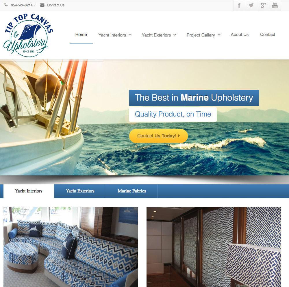 Marine Service Web Design
