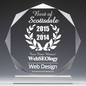 2 time winner for web design